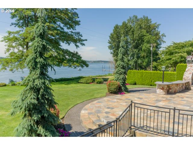 Columbia River and Mt. Hood views abound from this beautifully remodeled 1930's home.