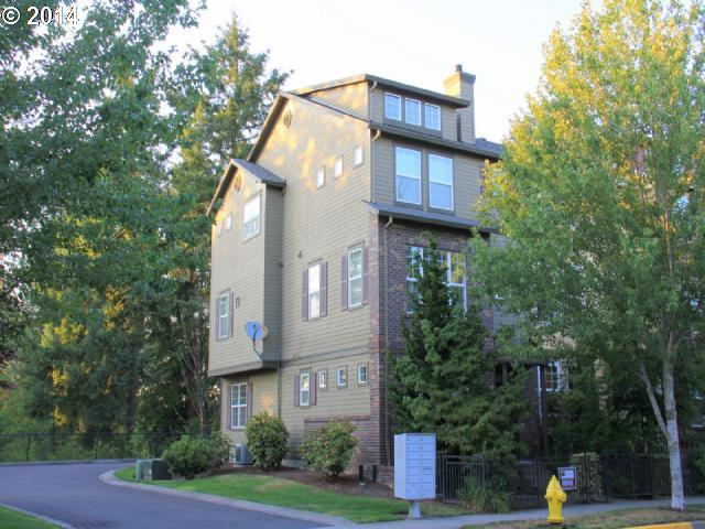 OPEN 8-30-1-3 PM! Really Live in this Orenco Gardens Coveted End Unit Georgian Townhome! Spacious & Light! Walk to MAX, 3 Private Parks, Orenco Station and more! Backs to Greenspace. Den/FR Down w/bath. Custom Kitchen w/Cherry and Granite- Gas Cooking. LR W/FP on Main. 2 Masters Up.  Cherry Hardwoods. Wood Blinds. A/C! 2 Car Gar off Alley. Winning Home and Location Waiting For you!