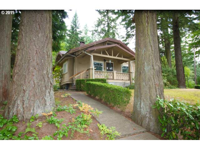 Spectacular location across from Lake-3 boat easements! Huge usable hard to fin half acre sunny lot-Cute house w/character & great bones-Cosmetic fixer-solid & livable now-lots of windows, very sunny+ bright! Big living & dining room w/built-ins,wall of windows, fireplace+ big front porch! Large kitchen & nook. Master w/full bath-Upstairs has 2 bedrooms-skylights-loft-pretty fir floors Big garage-Possible 2nd lot/house or huge yard!