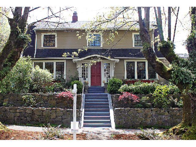 Open house Sat 12-2. Irvington Classic high above the street looking out on garden & tree lined street!Awesome floor plan-Sunny+Bright-Big living room-Lots of windows-Fireplace-Hardwoods-French doors open to porch. Remodeled kitchen w/gas range & granite counters.Formal dining room open to Sunporch & private yard w/awesome brick patio-grass-berries. 3 bedrooms+ bath upstairs w/landing-Big usable high ceiling basement-4th bd no egress