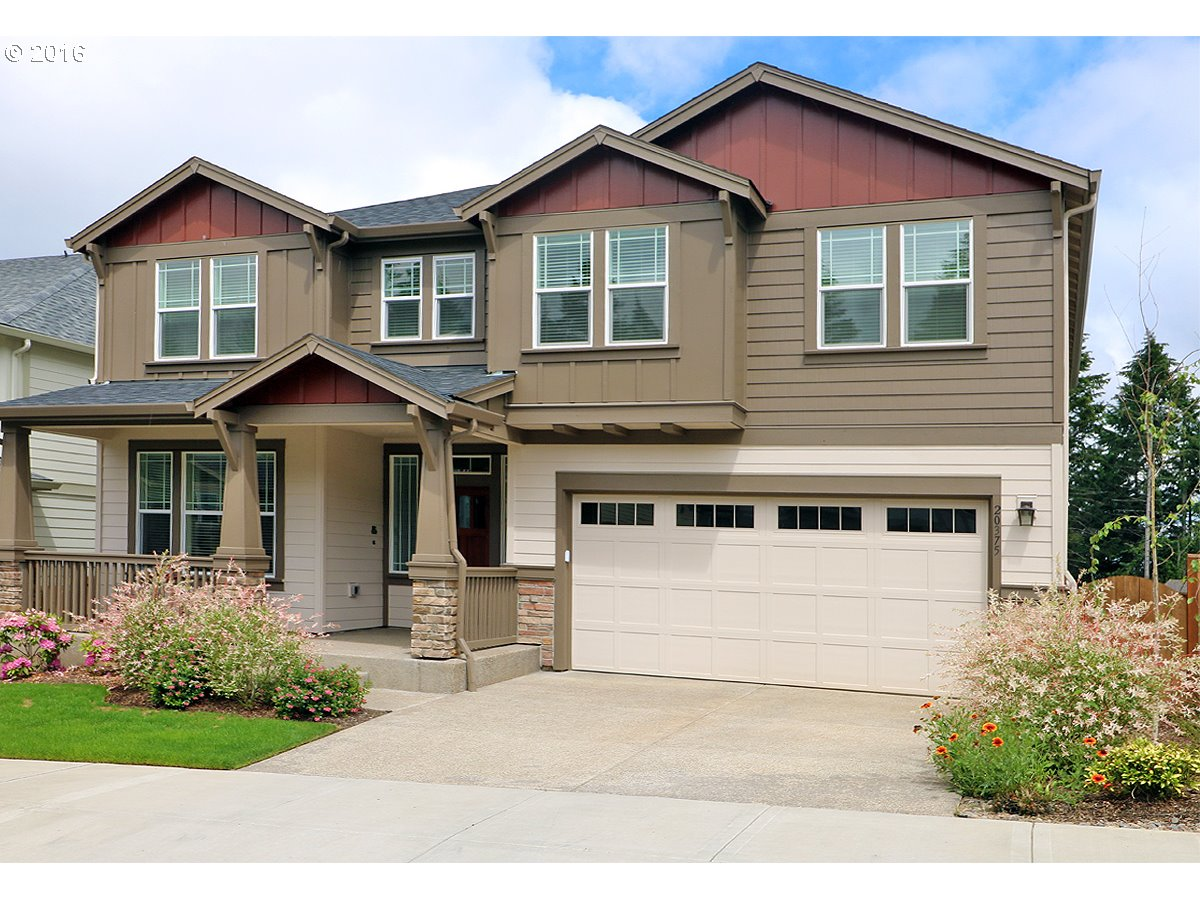 Gorgeous Like new w/multiple upgrades Craftsman Style home on Cooper Mountain w/panoramic territorial view! Spectacular Great Room w/wall of windows overlooking view-Wood floors-Wainscotting-Boxed beams & fireplace. Gourmet Kitchen w/granite counters-Gas range-Large island w/eat bar-Stainless appliances & pantry-Den w/french doors. Master suite w/soak tub-dbl shower.New Cooper Mt High School 2017