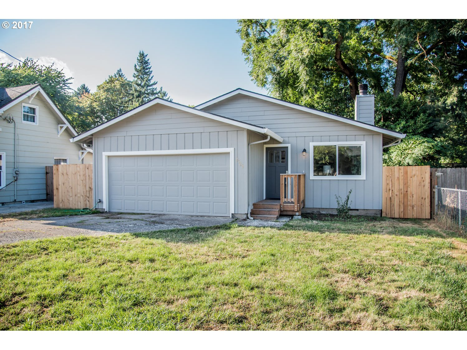 Remodeled 1 Level Ranch 3 Bedroom 1 Bathroom 1046 SQ Ft Which Features New roof, New Engineered Wood Floors, Tile Flooring And Surround, New Cabinets And Quartz Counters, SS Appliances, New Furnace and A/C, Updated Plumbing, All Paint, New Vinyl Windows, Sod To Be Installed As Soon As Weather Cools A Bit, New Deck, Fence To Be Replaced At East Side Of Property.