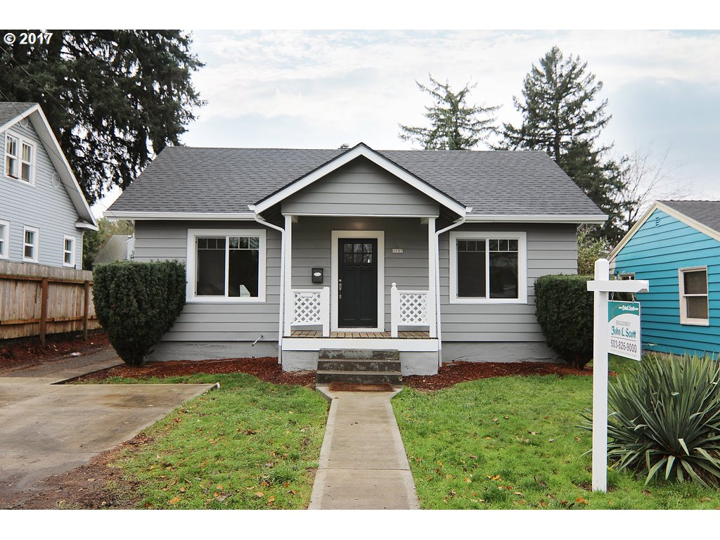 This remodeled PDX bungalow is the perfect home! Potential ADU - Per City of Portland. Updated features include:New Roof, Sheeting and Gutters-New Electrical with Panel and Service-Refinished White Oak Top Nail Hardwood Floors-New Kitchen Cabinets-New Quartz Counter tops-SS Appliances-New Interior and Exterior Paint-New Vinyl Windows-New Bathroom Fixtures, etc! Come and see it for yourself!