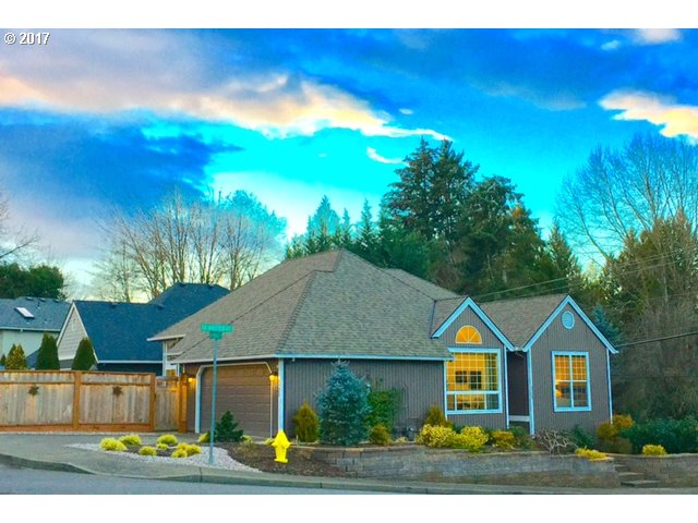 Gorgeous One-level 3br-2ba excellent location in Windfield.Complete renovation-New wood floors-New kitchen-High end SS appls-Gas range-Granite counters-Large eat at peninsula. All New custom oversized windows-New exter paint-Newer roof & furnace- Skylights-Open greatroom-New gas fireplace. Professionally landscaped-Patio-Fenced backyard-Beautiful perennial garden-New garage door-Utility sink-New vanities & Toilets. Lake Oswego Schools