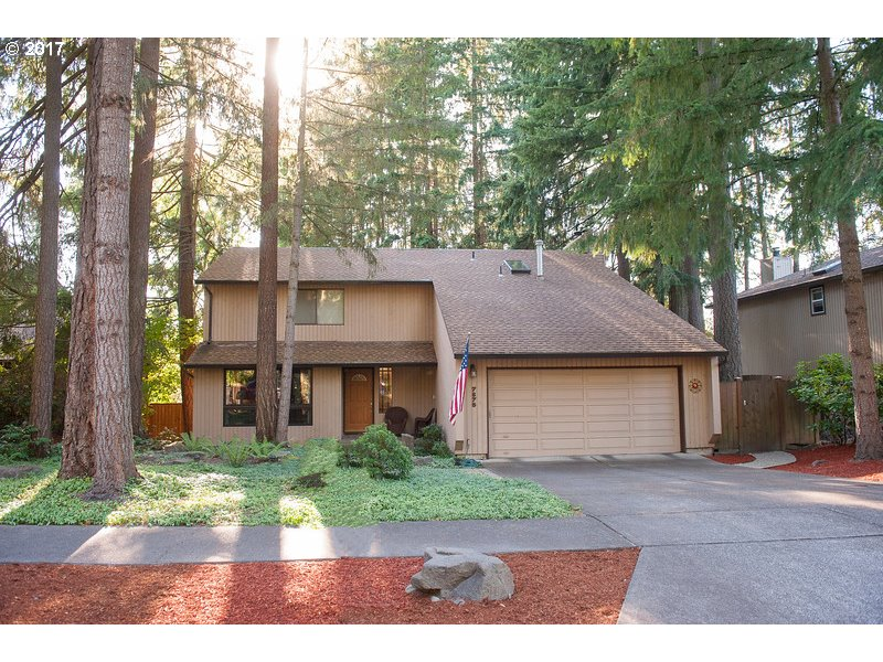 Remarkably well-kept, updated, & on a beautiful treed cul-de-sac lot. Granite counters, hardwood floors, newer cabs, pantry in kitchen; remodeled baths, large BR's w/walk-in closets. New 95% efficient gas furnace, A/C, Pella metal-clad wood frame casement windows in LR/DR. MBR w/ fireplace, deluxe bath w/slab granite & twin undermount sinks, skylight, large shower & add'l floored attic storage. Incl Refrig + W & D. Immaculate condition!
