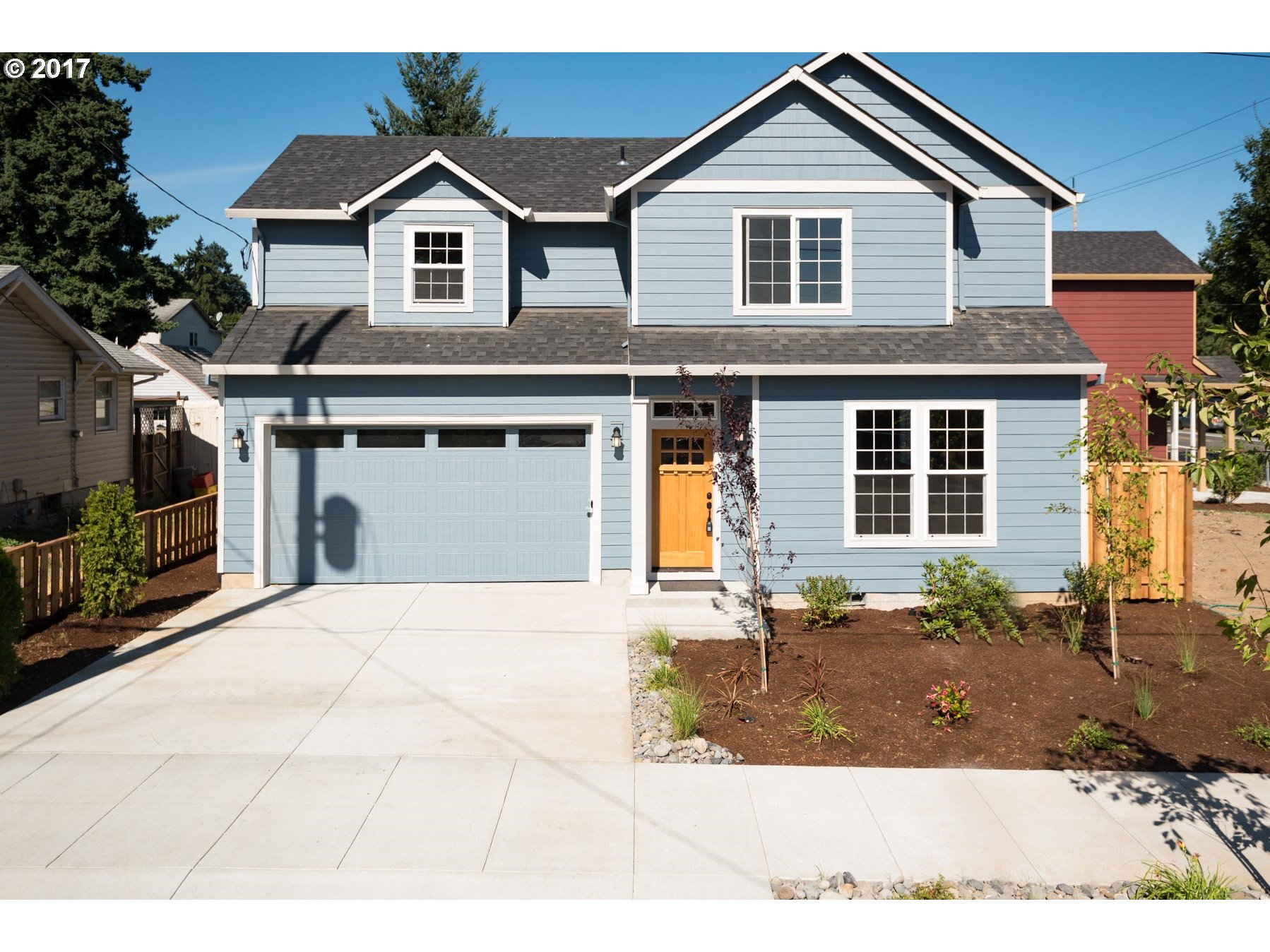 Functional design with two car garage!  3 Bedrooms plus bonus room.  Quartz counters in kitchen, designer cabinets, stainless steel appliances and microwave.  Hardwood floors and elevated ceilings throughout main level. Gas fireplace with full wrap mantel. Craftsman millwork.   Designer tiles in bathrooms.  Vaulted Master with walk in closet.  Built by established, award winning builder!