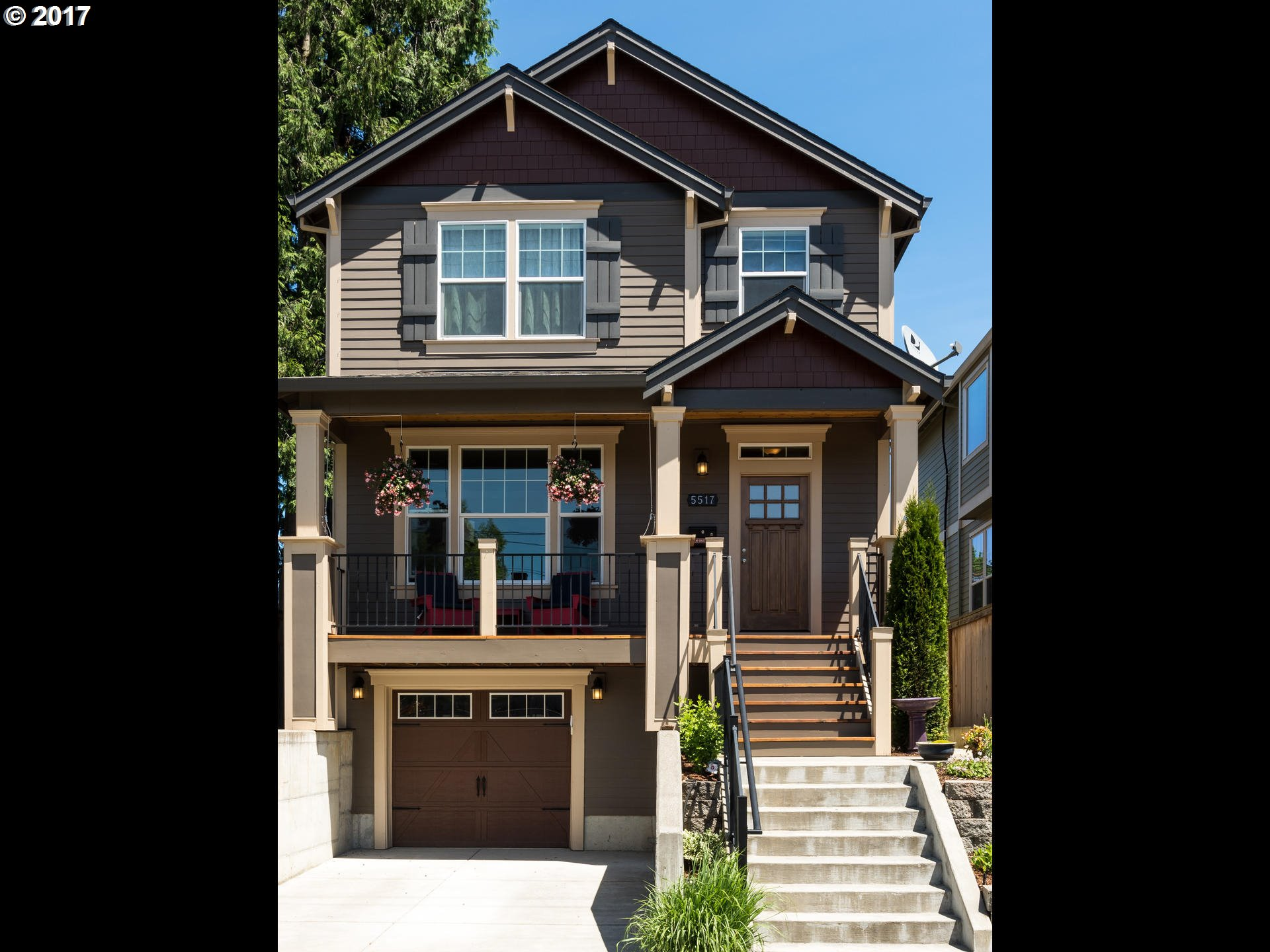 Immaculately maintained 2013 craftsman loaded with upgrades. Open living layout makes entertaining ease, Ss Appl, quartz counters, wood floors, upgraded lighting, ample storage, dual zoned heating/AC. Lower lvl guest suite w/separate entrance. Two covered porches with a fenced yard provide yr round enjoyment. Close to St Johns, 10 min. into downtown, walk dis to New Seasons, restaurants, coffee, kids playground at your fingertips.