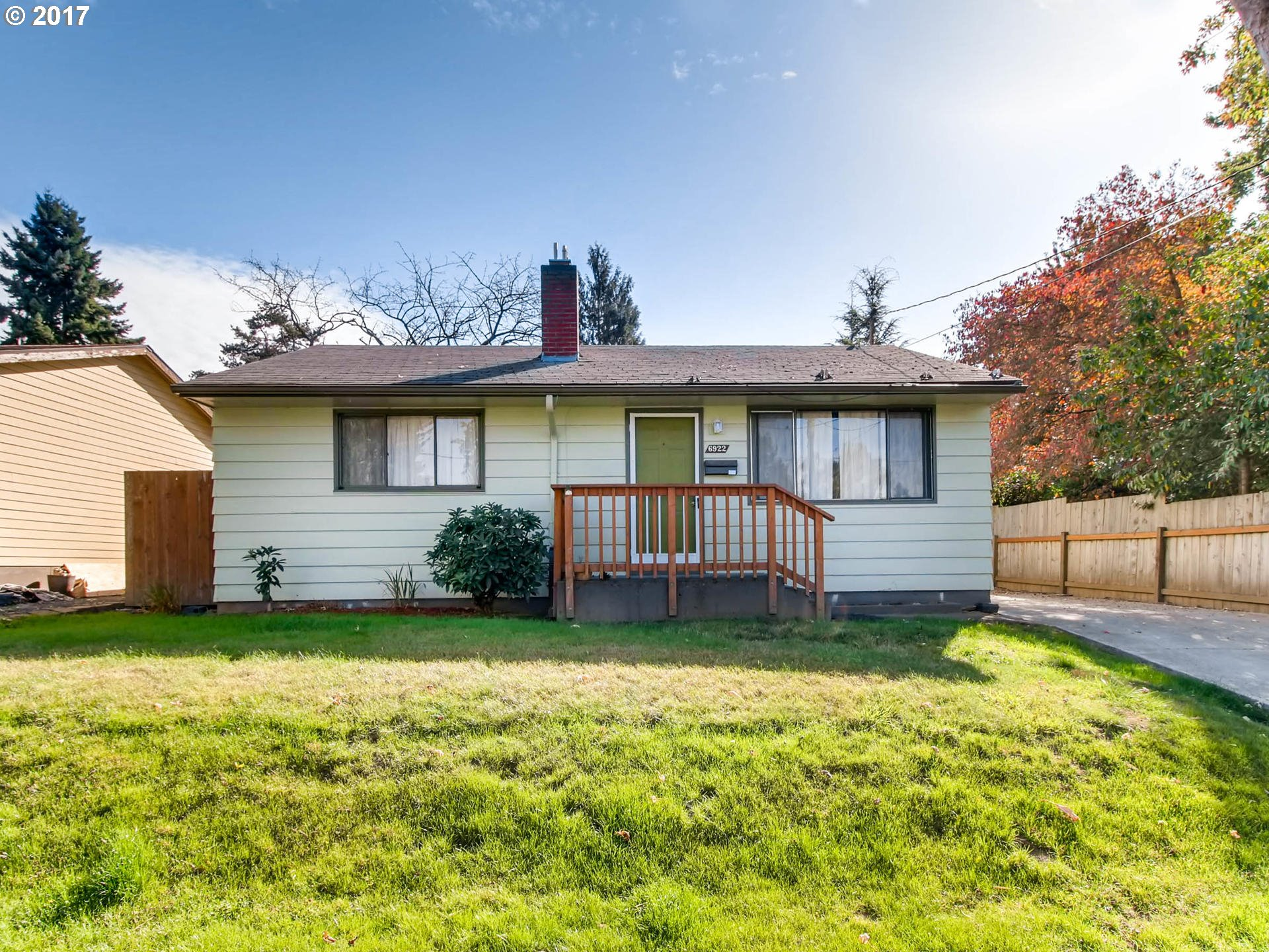 Perfect starter or investment. Semi private back yard with covered patio, oversized garage. Part of an estate. Sold, As Is with no warranties expressed or implied. Seller to do no repairs.