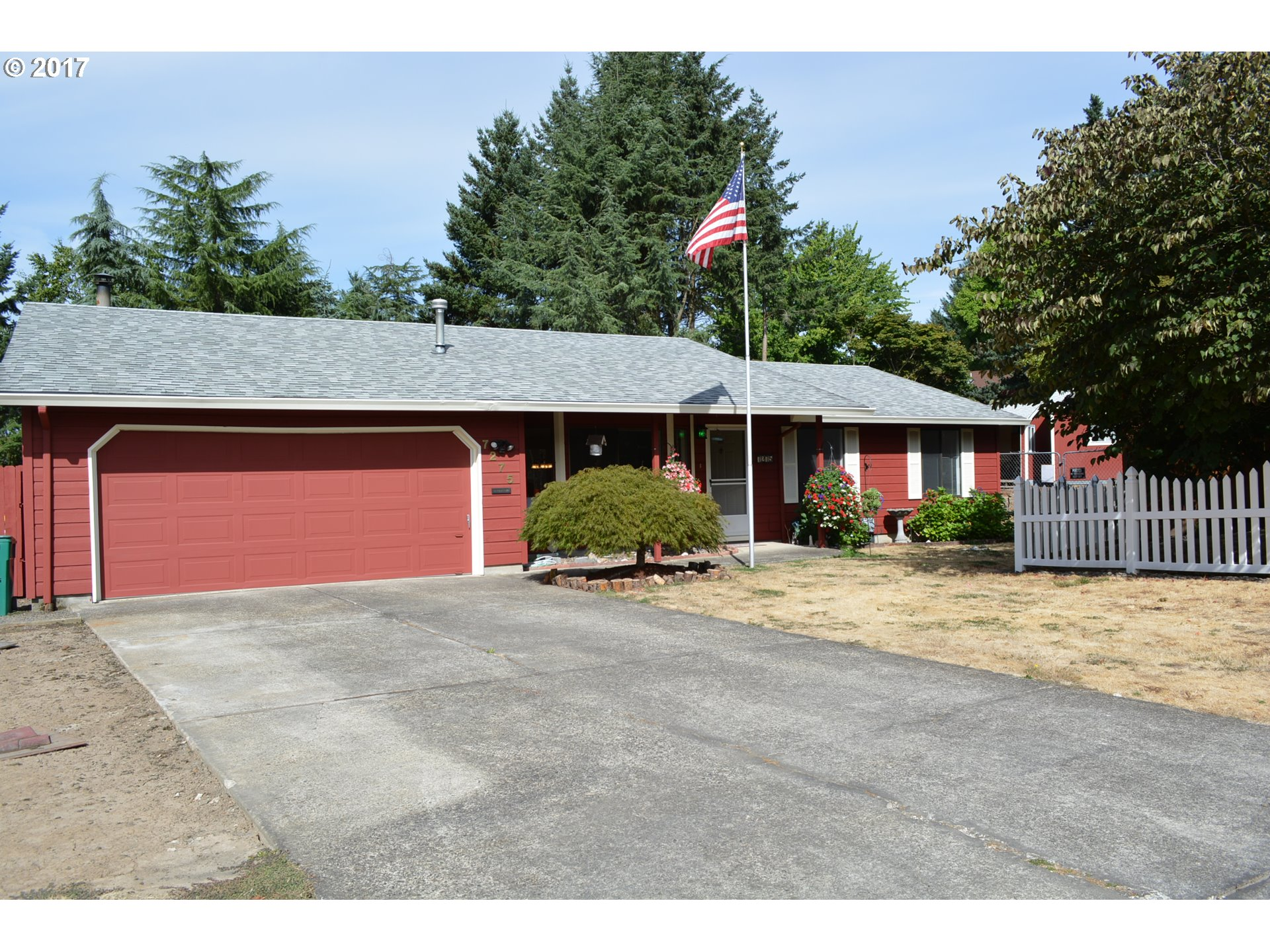 1 level living on .29 Acre lot on Cul-de-sac! Private setting, super long driveway for parking RV or numerous cars. Well insulated this solid built home is well cared for. 3 BD, 2 BA, 1485 SF feels larger w/its open floorplan! Spacious kit, LR + DR; Kit+ FAM RM combos! Spacious Master Bdrm, Walk-in Shower in master Ba. Certified woodstove! Lots of storage w/2 sheds & wood cover on side of home. AC too! Carpet Allowance! Motivated seller