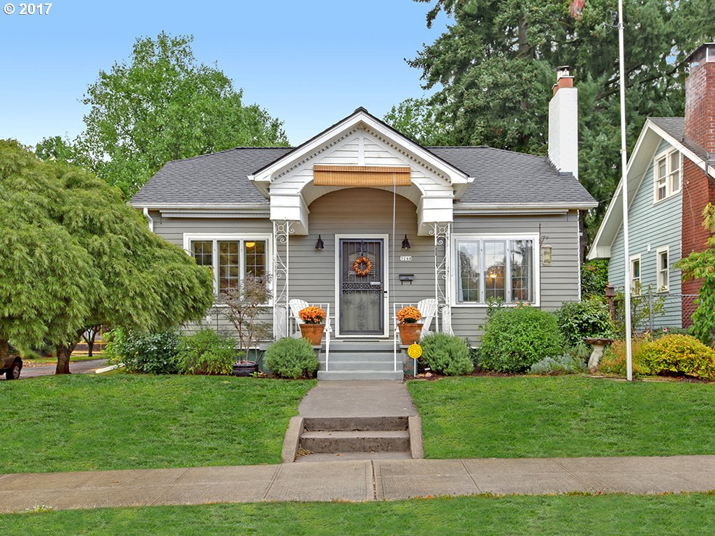 Lovingly restored 1929 bungalow on spacious corner lot. Classic layout, updated systems, vintage woodwork, hardwoods, fantastic light. Two floors of living space, amenities include renovated bathroom, kitchen nook (or home office), formal dining room, living room with woodstove. Updates: windows, 50 year roof, furnace & A/C, water heater, sewer & water line, exterior paint. Blocks from coffee, grocery, bike routes. Home.