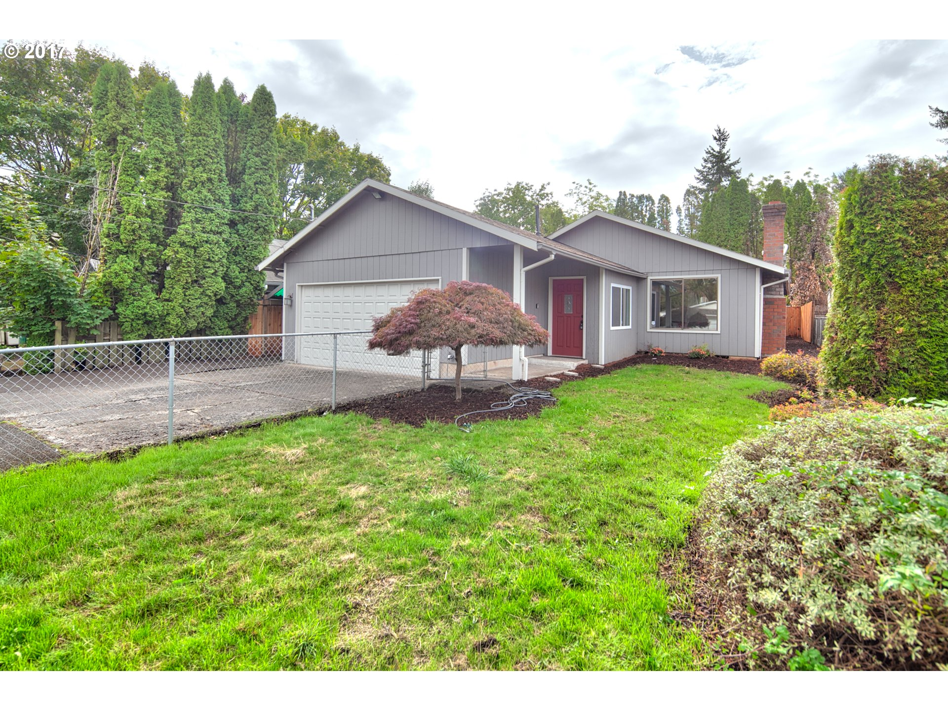 Remodeled Milwaukie 3 bedroom/ 2 bath ranch home. New hardwood laminate, granite countertops, tile backsplash, S.S. appls., updated baths, tiled fireplace, granite, fresh interior/exterior paint. New landscaping, deck and fence. Room for small RV parking/ Minutes to bus line and MAX line.