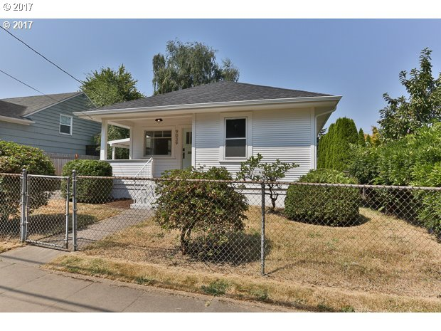Super cute PDX Bungalow tastefully remodeled while keeping the original integrity of the home! New bamboo countertops, tile backsplash, new appliances & new vinyl flooring give this kitchen a fresh face lift. All new carpet & refinished hardwoods. Fenced yard & new deck great for entertaining on hot summer nights. New roof & gutters. All that's left to do is move in!