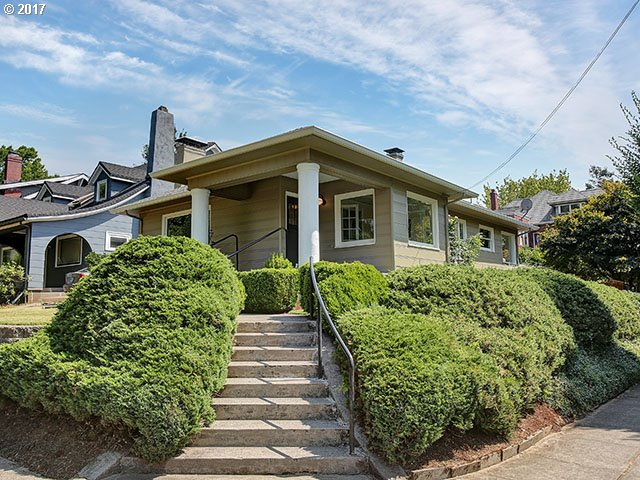 Gorgeous remodel in the highly sought after Laurelhurst Neighborhood! Gleaming refinished hardwood floors & charming period details. French doors, fireplace, built-ins, porch, & office nook. Updated light fixtures & hardware throughout, large windows allow for a light and bright feel. Kitchen has darling breakfast nook w/ corner windows. Partially finished basement is just waiting for your own personal touch!