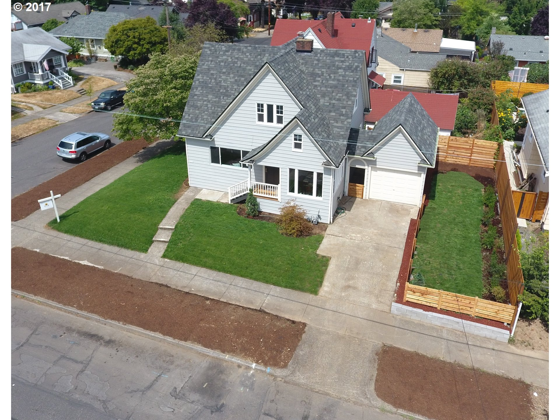 Excellent location 5 Blocks to Kenton Park and Bars, Dining, Coffee, & Shopping! Remodeled, ***3 Bedroom + Den*** New 30 Year Roof, New Sewer Line, New Hi-Efficiency Gas Furnace, New Windows, New Lighting, New Kitchen Cabinets with slab Granite & Stainless Appliances. Refinished Floors, Copper Plumbing, No Oil Tank.  Walk Score of 83 & Bike Score of 96!