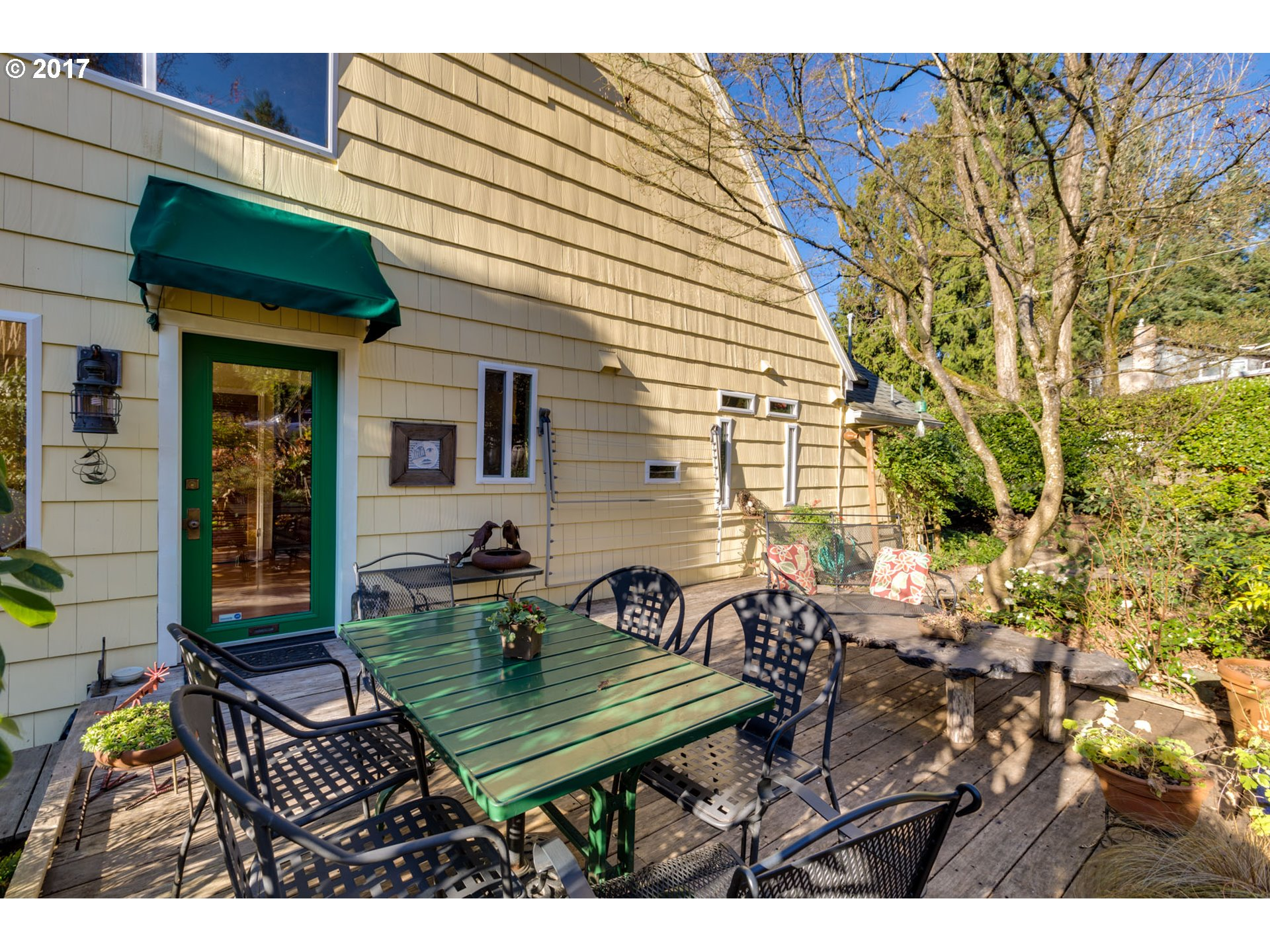 OPEN 12/12 10:30-12:30. Fall in love in Fairoaks! So close-in! Woodsy, spacious bungalow is full of surprises, like the sunny, open great room plan, loft, & vintage original details. Huge windows & skylights bring in the beautiful setting, meandering gardens, & abundant light. Many eco-friendly updates. Near Trolley Trail bike & ped path, MAX, cafes, shops, lake, & boat ramp. Wildlife abounds. Wonderful creative & connected community.
