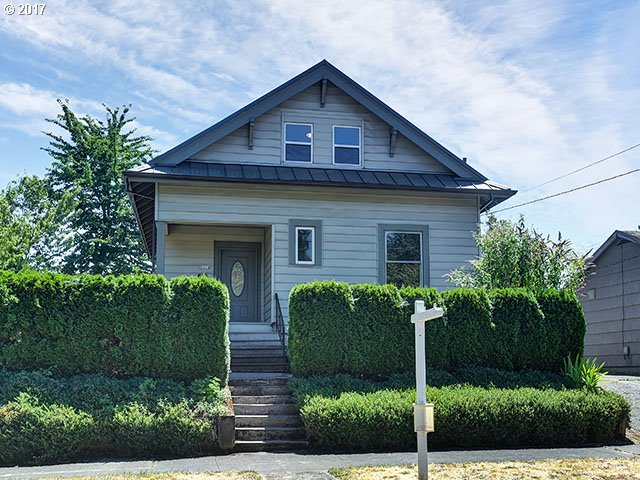Kenton Neighborhood! Old PDX home with MANY updates! 4 beds,2 baths, Features include NEW Furnace, electrical, plumbing, metal roof, composite deck. Updated kitchen with SS appliances, gas stove,granite tile counters & slate floor. New hardwood on main floor. Master on the main! All new Main bath w/hex tile & clawfoot tub! Finished basement with bonus family room! All appliances stay. Too much to list! A MUST SEE!
