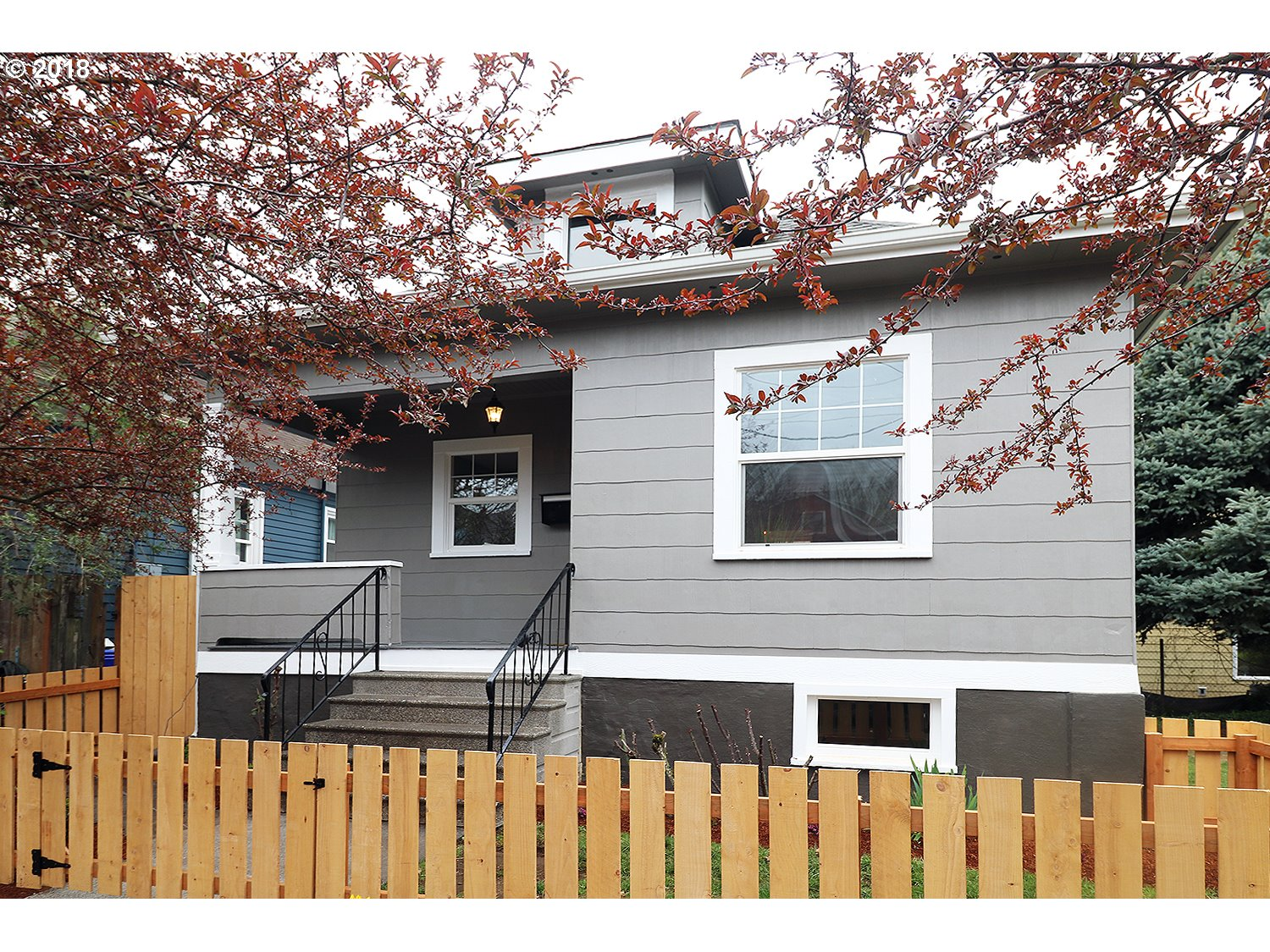 Tons of charm in this gorgeous remodel. Amazing location-1 block to Peninsula Park, PCC, cafes, New Seasons, pubs, shops & Mississippi/Williams. Easy access to MAX & I5. Quartz Kitchen w/new cabinets, SS Maytag appliances & subway tile. Beautiful LVT flooring w/25 yr warranty. Maytag W&D. New carpet, vanities, paint in+out, furnace-12 yr warranty. Keep the big side yard or split it off & build a tiny house. Ask agent for details.