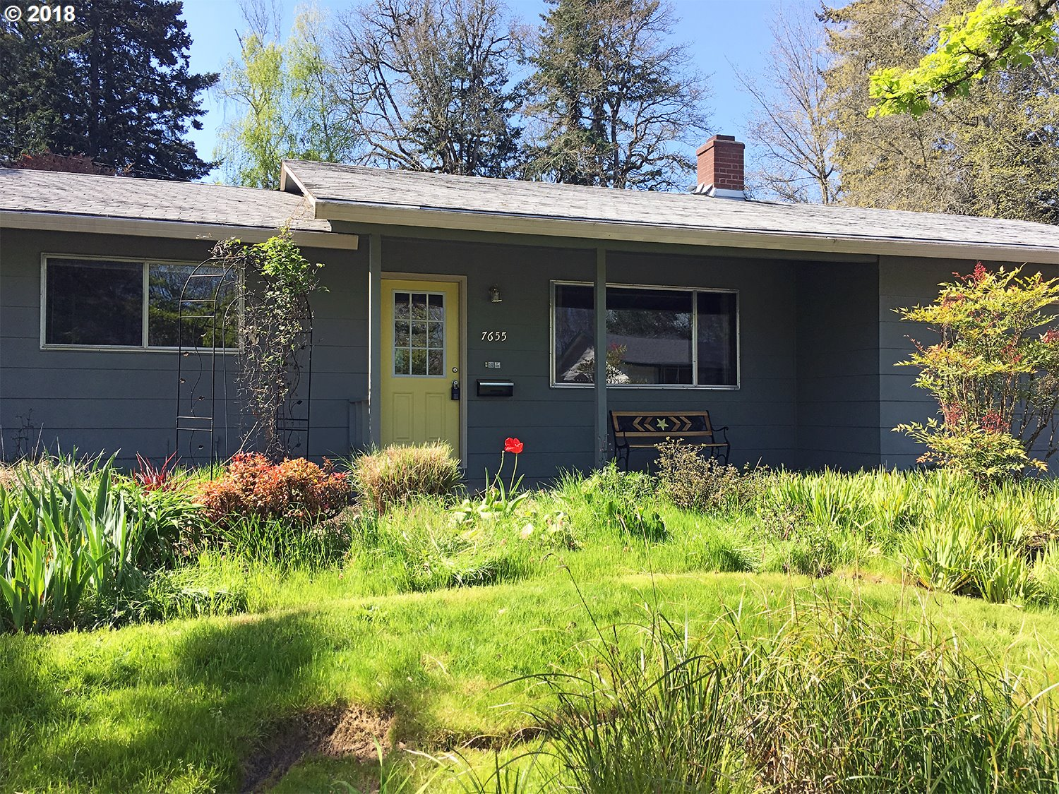 Awesome location! Just half block to the Fanno Creek Trail w/miles & miles of trails-Walk to restaurants-cafes-shops-grocery & grade school. Perfect starter home, mid century classic w/open floor plan-very light & bright with big  windows, hardwood floors, fireplace, large kitchen, huge dble master. Brand new Vose school is STEAM-Science-Technology-engineering & math. Large lot w/perennial garden. Close to everything. Walk to WES train