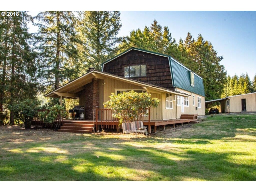 Seller is a licensed Real Estate Broker in the State of Oregon. Perfect rural acreage, 15 minutes to Beaverton. Beautiful pastoral views, comfortable, older farmhouse sauna, newer metal roof, newer furnace, carpet. Huge covered deck, pond, fruit trees, well and spring. 57x42 drive through 5 stall barn with tack room. 21x23 log hay barn. Forest with riding trails. Perfect for horses, contractor, hobbyfarm.