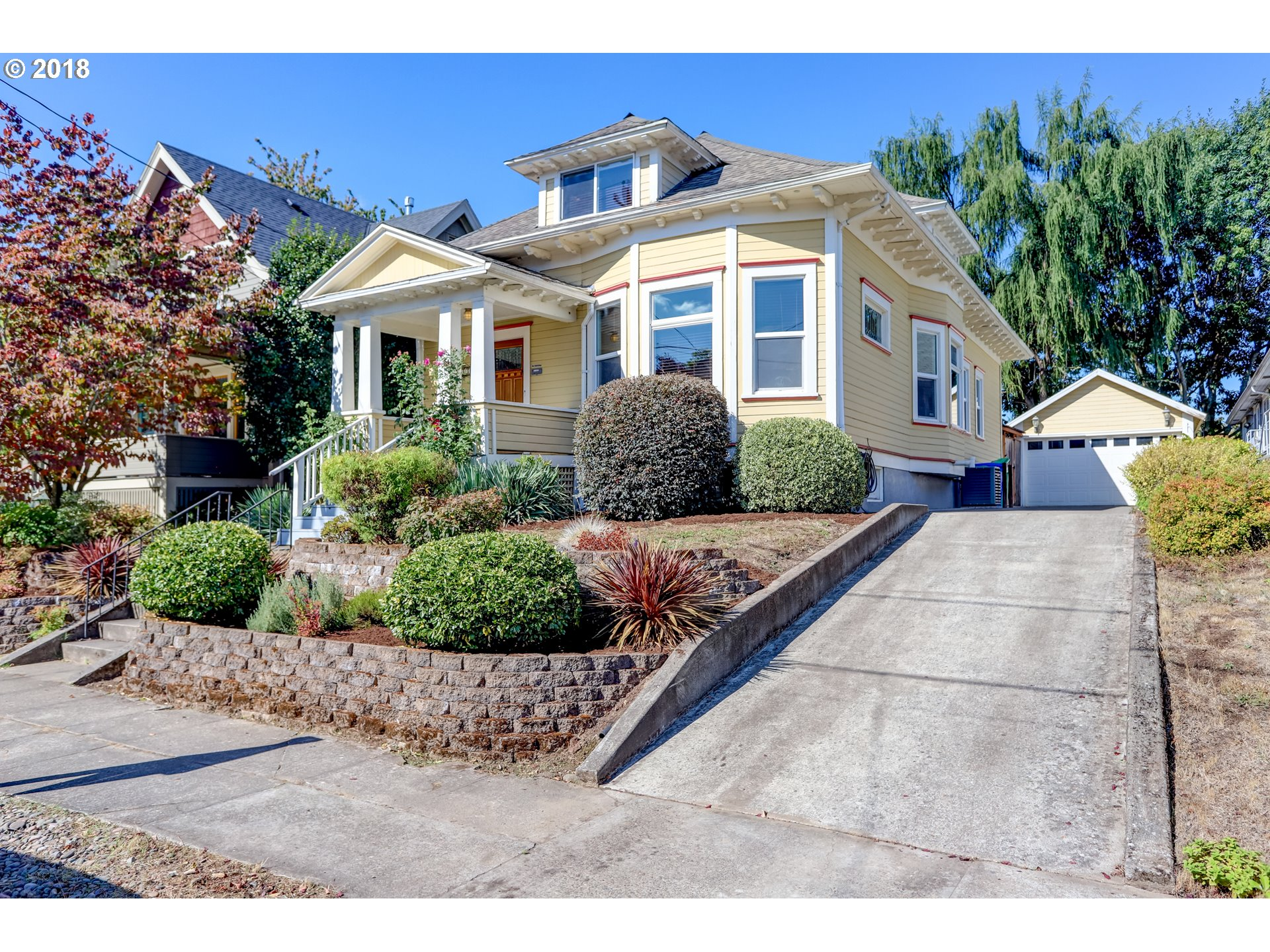 Stunning 1910 traditional craftsman in NE Portland. Irving Park is just up the street! Naturally lit throughout with updated windows and skylights. Vaulted ceilings and spacious bedrooms and large master bedroom/bathroom. Manicured backyard featuring water fountain & fire-pit. Enough space for a growing family, potential ADU in basement. Must See!