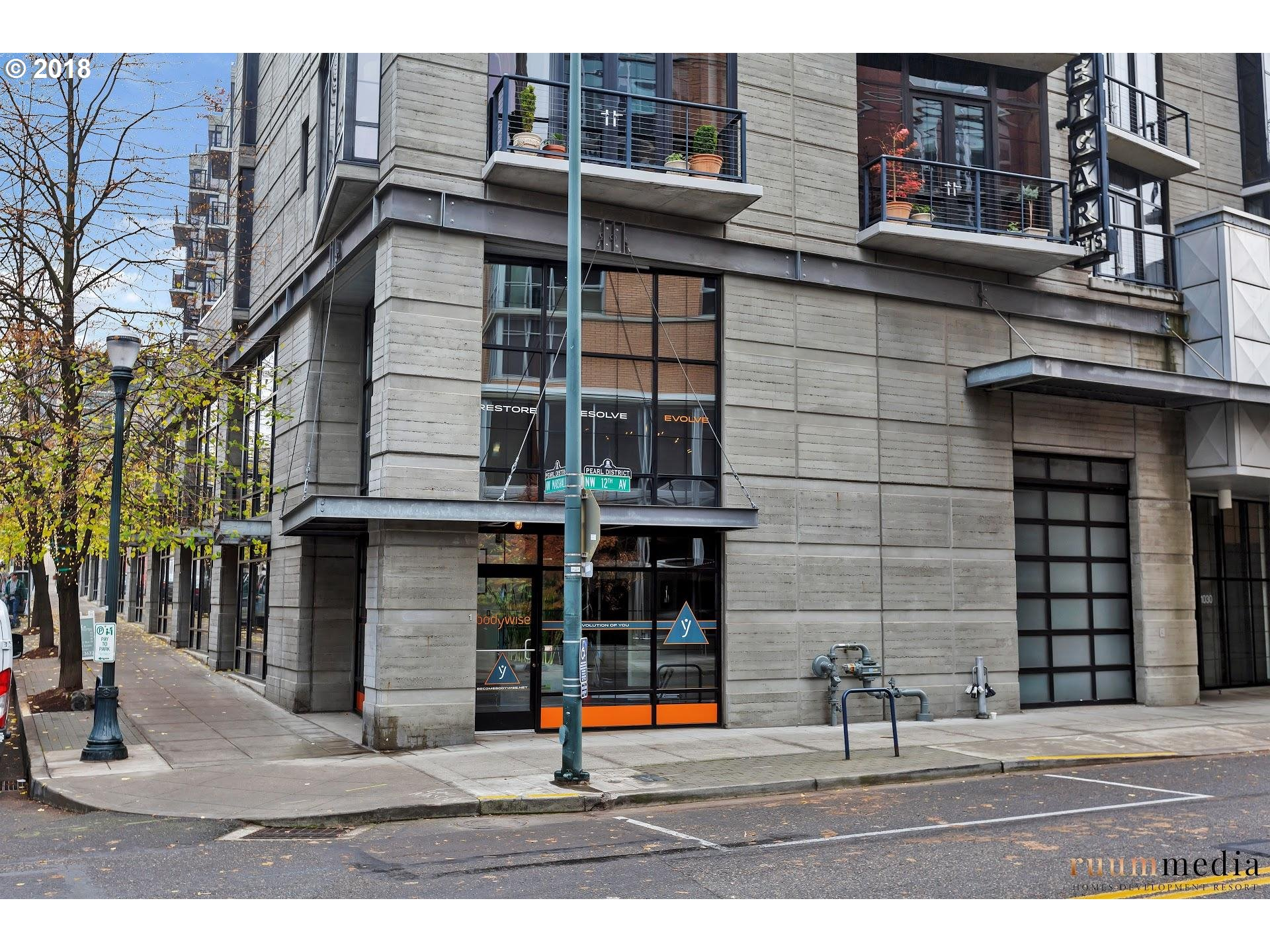 Located in the Pearl District a block from Tanner Springs Park on the corner in Streetcar Lofts. Live/work/commercial unit offers a variety of use options. Location is supreme just a block from Can Font and Tea Bar. The space is light and open, yet private in areas. Enjoy floor to ceiling windows and soaring ceilings that invite guests, friends and clients. Main level has half bath and upstairs has full bath.Includes parking/storage.