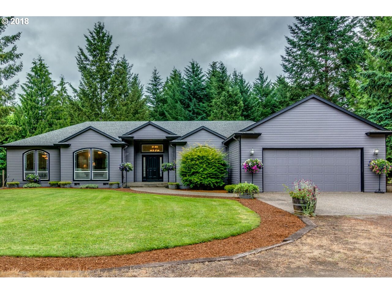 Amazing 1 level custom built home~ Perfect horse property! Secluded & private serene living fully fenced w/gated entrance, 36'X60' metal siding pole barn/shop wired/220, 48'X60' barn w/full covered lighted riding arena,(1)12'x24' foaling stall,(8)12'x12' stalls w/Noble stall fronts, 12'x48' overhead loft, 2 separate 12'x12' enclosed 3 sided shelters in pasture, In GPS type 16660 Thayer to arrive.