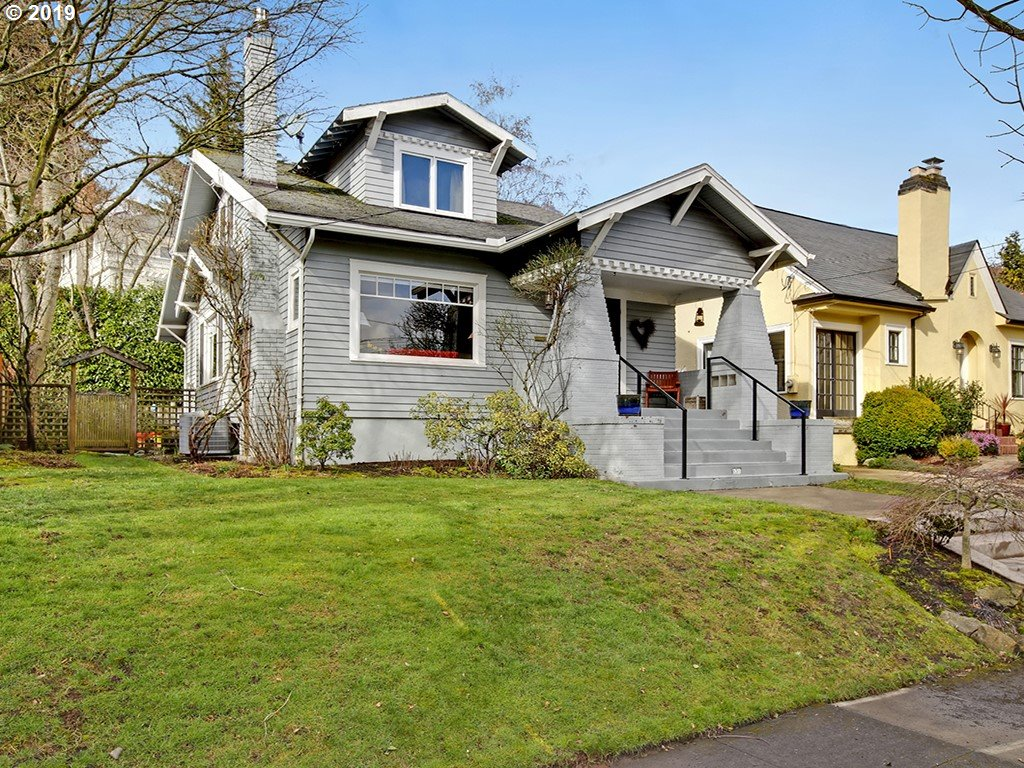 Open Sat 11-1 & Sun 2-4! Enchanting Laurelhurst gem! Lovingly maintained & sun drenched! 3 bds up + main flr bed/bath-ideal to age into! Remod kitchen & baths w/fun Pratt & Larson tile; frplc; hrdwds; built-ins; open staircase; main flr fam rm/4th bd; fin basement w/bath, laundry, storage & huge fam/bonus/play rm! French doors open to private low maint backyard w/outdoor frplc; welcoming sitting porch Newer: furnace/H20 htr/AC/H20 line! [Home Energy Score = 3. HES Report at https://rpt.greenbuildingregistry.com/hes/OR10054646]